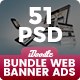 Bundle Web Design Banner Ads - 51 PSD [03 Sets]