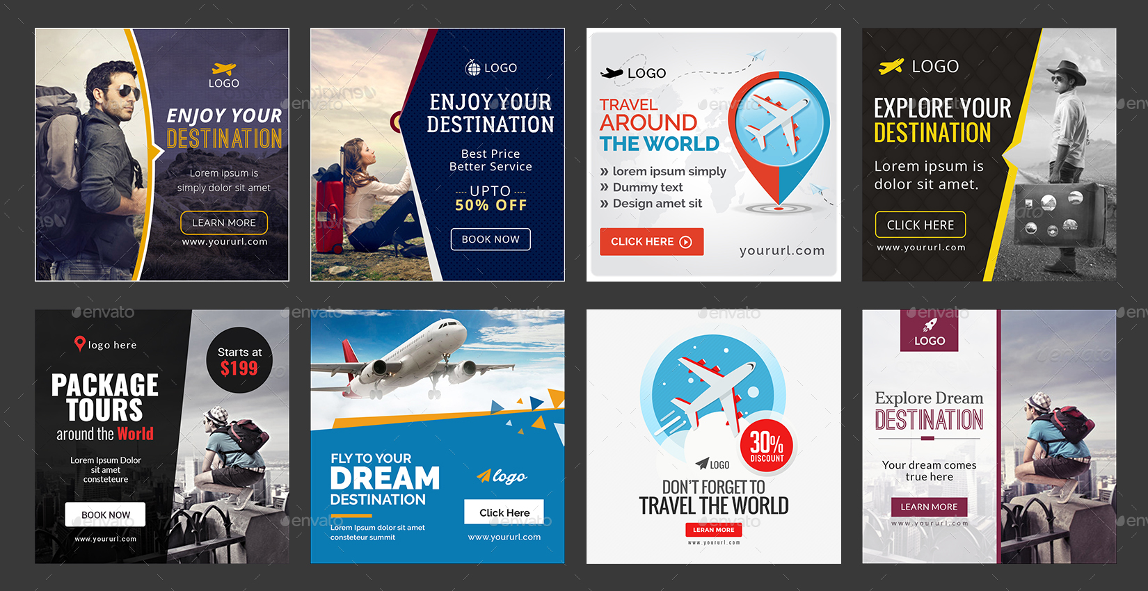 Travel Instagram Templates - 25 Designs by doto | GraphicRiver