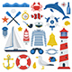 Marine Travel Sea Icon Set