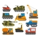 Caterpillar Equipment Tractor Vector Set.