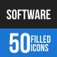 Software Development Blue & Black Icons