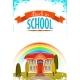 Back To School Cartoon Poster. Vector Illustration