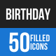 Birthday Blue & Black Icons