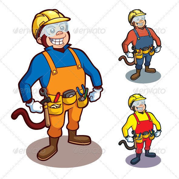 Construction Monkey - Animals Characters