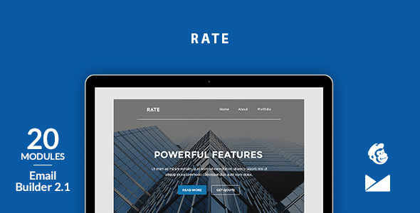 Rate Email Template + Online Emailbuilder 2.1