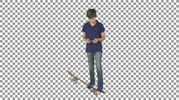 Download Young Boy Playing with Smartphone nulled download