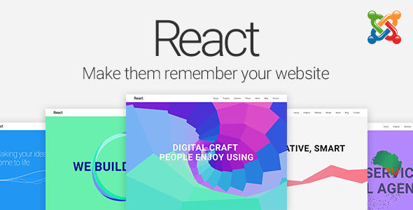 React - Material Design Joomla Template