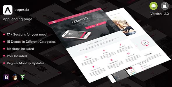Appestia - App Landing Page