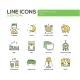 Sleeping - Line Design Icons Set