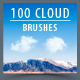 100 High Resolution Cloud Brushes