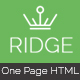 Ridge - One Page Multipurpose Responsive Html Template