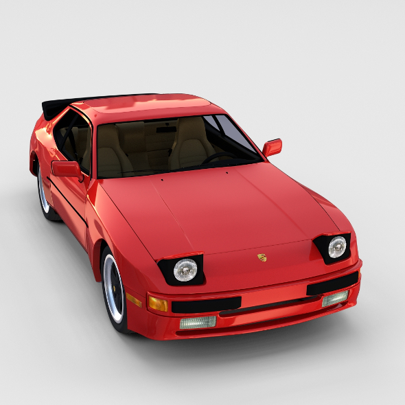 3DOcean Porsche 944 with interior rev 17369233