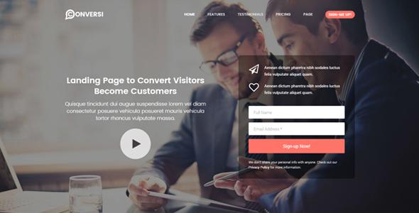 Conversi Professional Conversion Landing Page