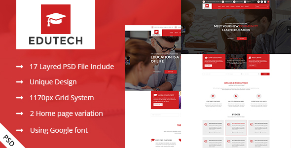 EDUTECH - Education,Course and Event Template