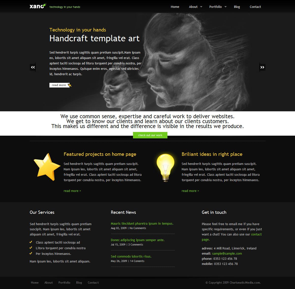 XANO Personal / Corporate Premium HTML Template - Xano Preview