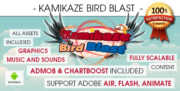 Kamikaze Bird Blast - Android - CodeCanyon Item for Sale