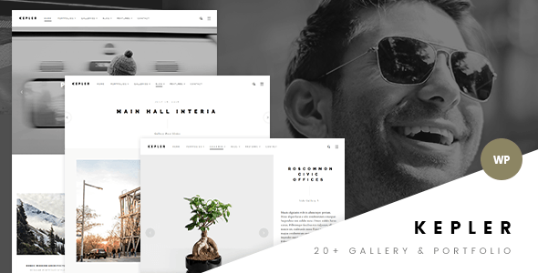 Kepler - Modern Photography & Portfolio WP Theme