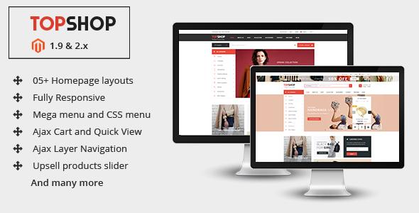 Topshop - Premium Multipurpose Magento 2 &1.9 Theme
