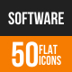 Software Development Flat Round Icons