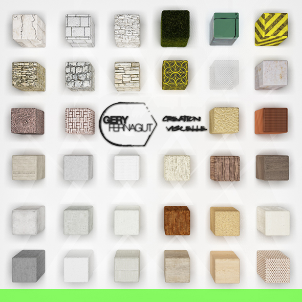(30+) Materials pack for VRAY C4D  - 3DOcean Item for Sale