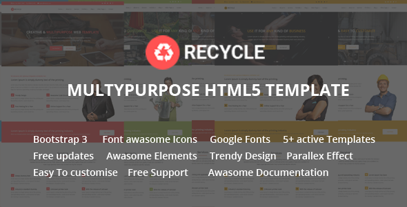 Recycle - Responsive Multipurpose HTML5 Template