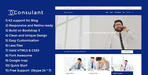 Consulant - Corporate & Business Joomla Template