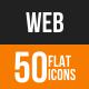 Web Flat Round Icons