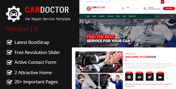 Car Doctor - Auto Mechanic & Car Repair Template