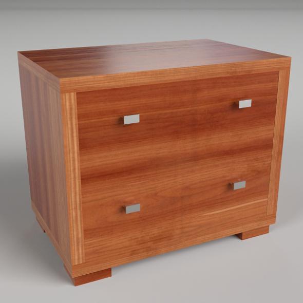 Bedside Table 2 (PBR materials, UV-textured) - 3DOcean Item for Sale