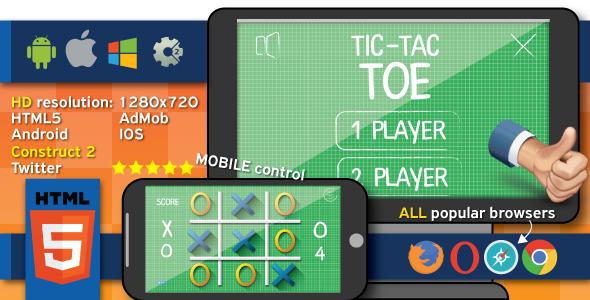 Download Tic tact toe - HTML5 (.capx)