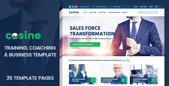 Download Cosine - Training, Coaching & Business HTML Template