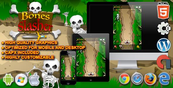 Download Bones Slasher - HTML5 Construct Survival Game