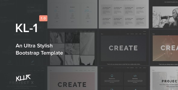 Kl-1 - An Ultra Stylish Bootstrap Template