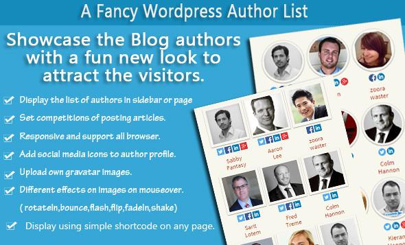 A Fancy WordPress Author List