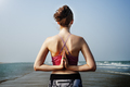 Yoga Zen Beach Balance Energy Concentration Concept