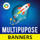 HTML5 Multi Purpose Banners - GWD - 7 Sizes(NF-CC-136)