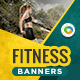 HTML5 Health & Fitness Banners - GWD - 7 Sizes(NF-CC-137)