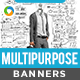 HTML5 Multi Purpose Banners - GWD - 7 Sizes(NF-CC-138)