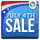 July 4 Banners - HTML5 Banners - (NF-CC-139)