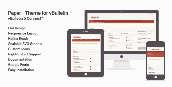 Paper - Flat Theme for vBulletin 5 Connect