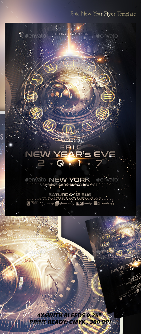 Epic New Year Flyer Template