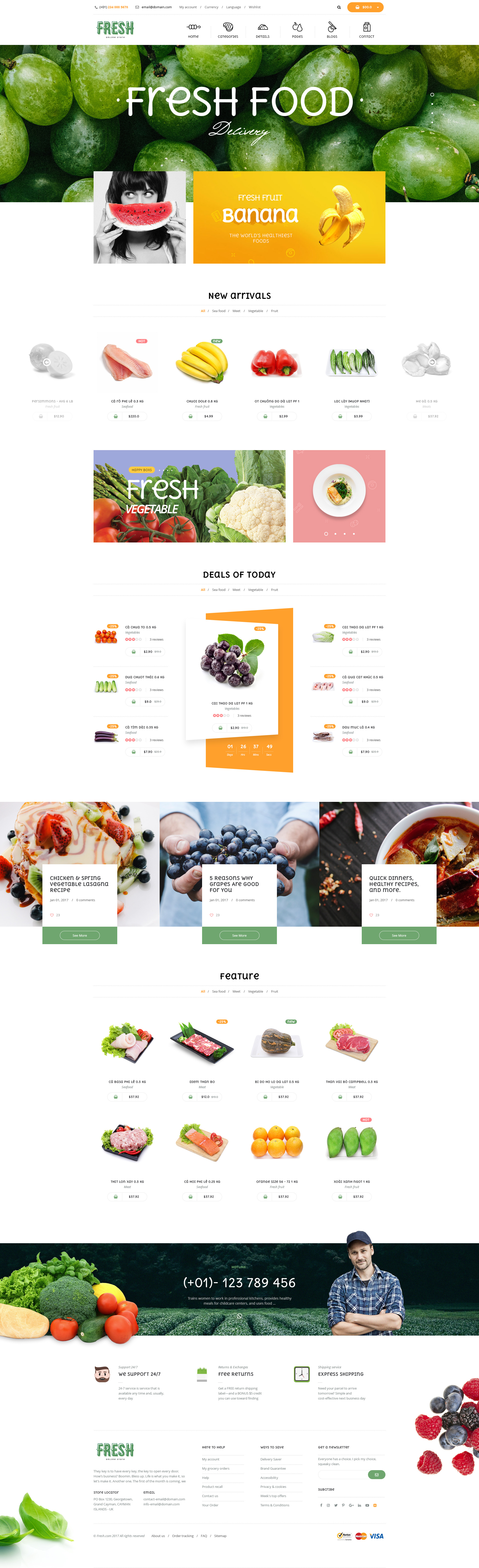 Fresh Food Fruit Store Shopify Theme By Juno Themes