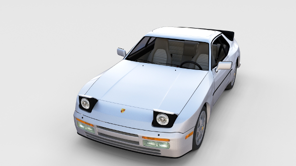 3DOcean Porsche 944 S2 with interior rev 17386792