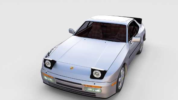 3DOcean Porsche 944 Turbo S with interior rev 17387284