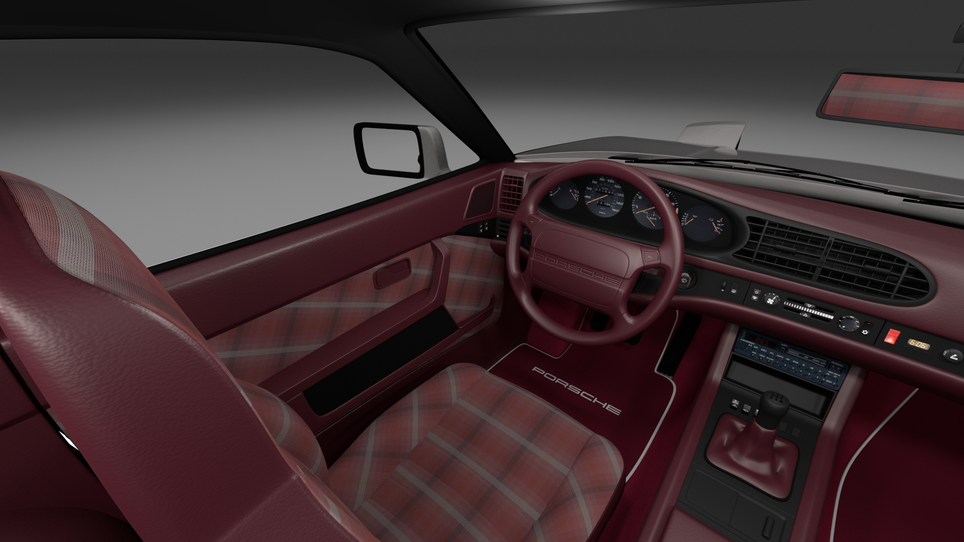 porsche 944 turbo s with interior rev by dragosburian 3docean. Black Bedroom Furniture Sets. Home Design Ideas