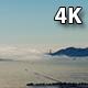 Aerial San Francisco Golden Gate Bridge Fog