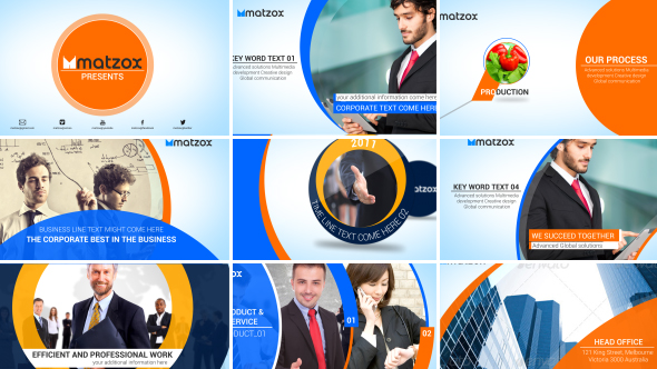 Clean company profile corporate envato videohive for Company profile after effects templates free download