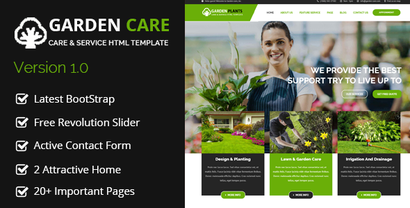 Garden Plants - Gardening and Landscaping HTML Template