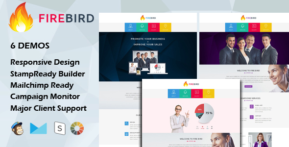 Download FIRE BIRD - Multipurpose Responsive Email Template + Stamp Ready Builder nulled download
