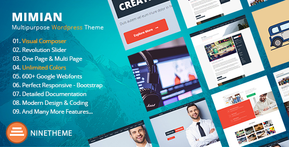 Mimian - Multipurpose One Page WordPress Theme